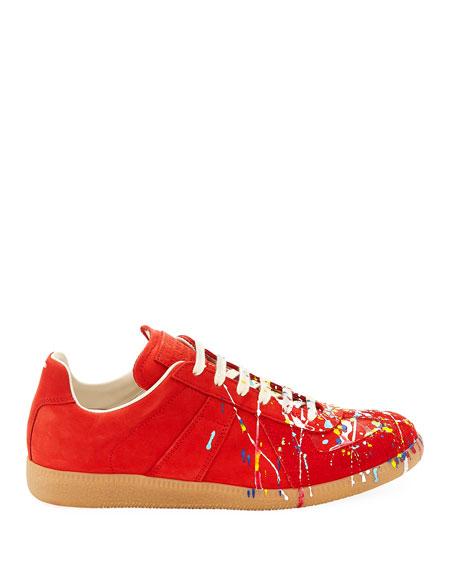 649f0c710c9 Men's Replica Paint-Splatter Suede Low-Top Sneakers