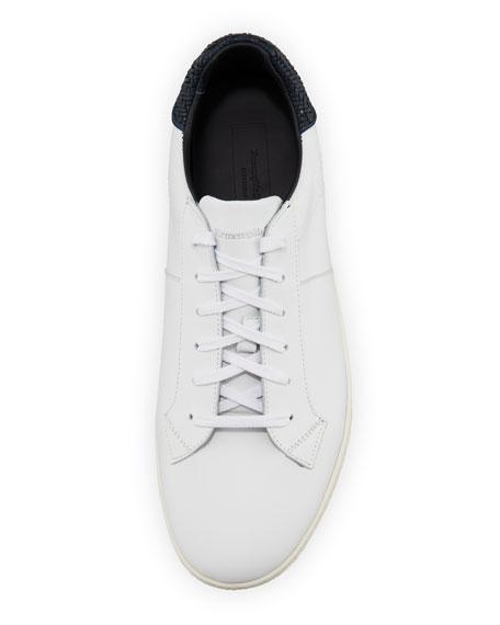 Men's Vulvanizzato Leaf-Print Slip-On Sneakers