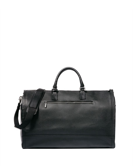 Image 2 of 5: Leather Garment Weekender Bag