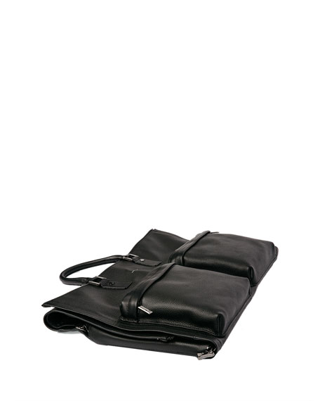 Image 3 of 5: Leather Garment Weekender Bag
