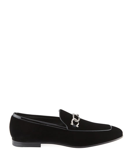 Image 3 of 3: Men's Boy 2 Chain Detail Velvet Loafer