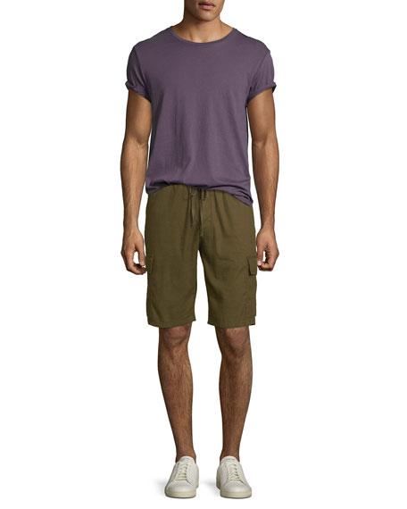 Vince Men's Drawstring Linen-Blend Cargo Shorts