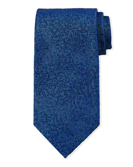 Image 1 of 1: Snowballs Silk Tie