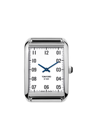 TOM FORD TIMEPIECES Polished Stainless Steel Case, White Dial, Medium