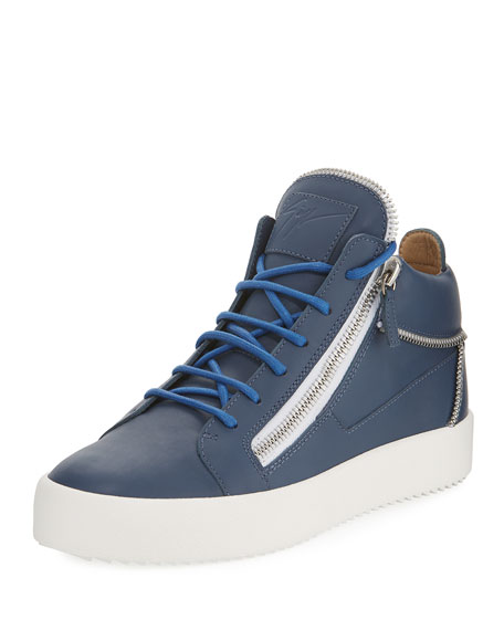 Giuseppe Zanotti Men's High-Top Multi-Zip Sneaker