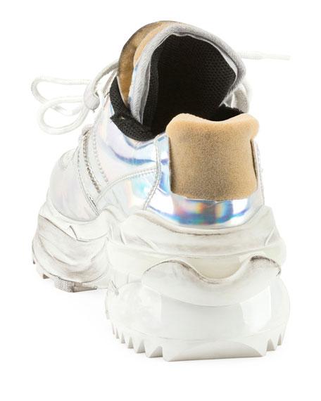 Maison Margiela Men's Retrofit Metallic Trainer Sneakers