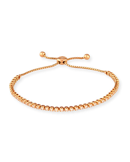 18K Rose Gold Illusion-Set Diamond Bracelet