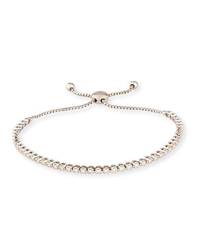 18K White Gold Illusion-Set White Diamond Bracelet