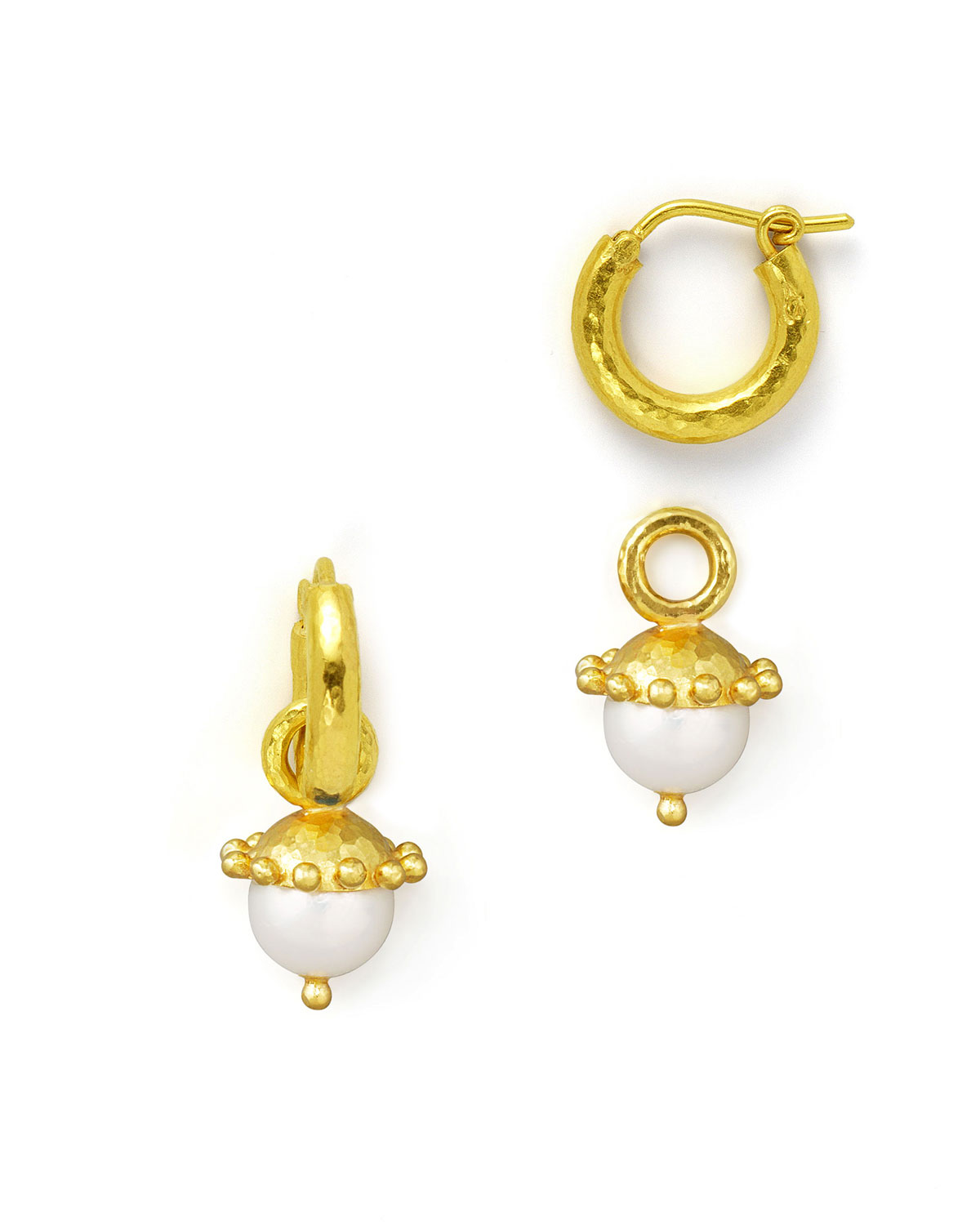 Elizabeth Locke White Pearl Earring Pendants