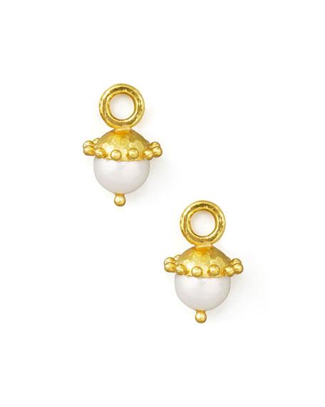 White Pearl Earring Pendants