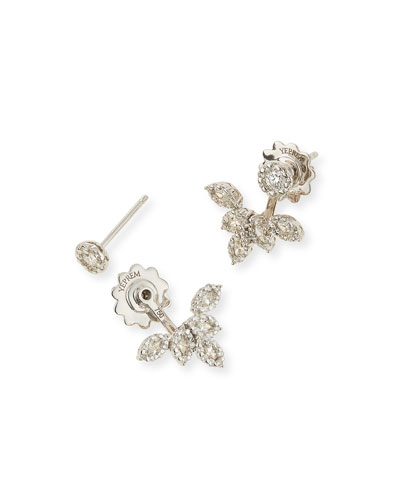Diamond Petal Jacket Earrings