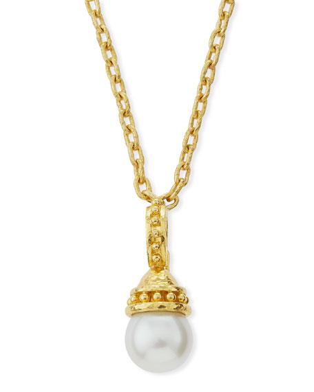 Elizabeth Locke Granulated 14mm South Sea Pearl Pendant