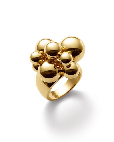 Atomo 18k Yellow Gold Cluster Ring  Size 6.5