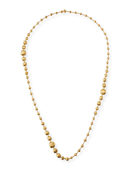 Marco Bicego Africa 18k Gold Triple Wave Necklace