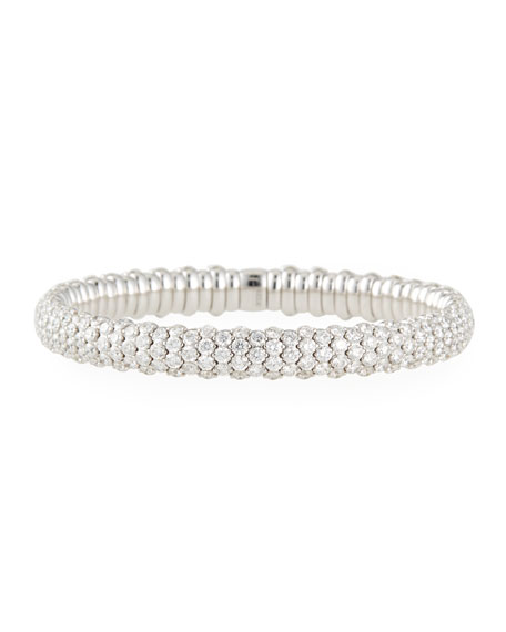 18k White Gold Stretch Diamond Bracelet