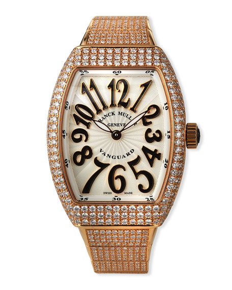 Image 1 of 5: Franck Muller Vanguard 18k Rose Gold Diamond Bracelet Watch