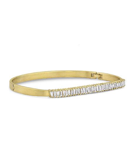 Dominique Cohen 18k Gold Diamond Hinged Bangle Bracelet