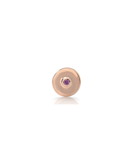 Image 2 of 4: Stevie Wren Round Pink Tourmaline Charm with Pink Diamond