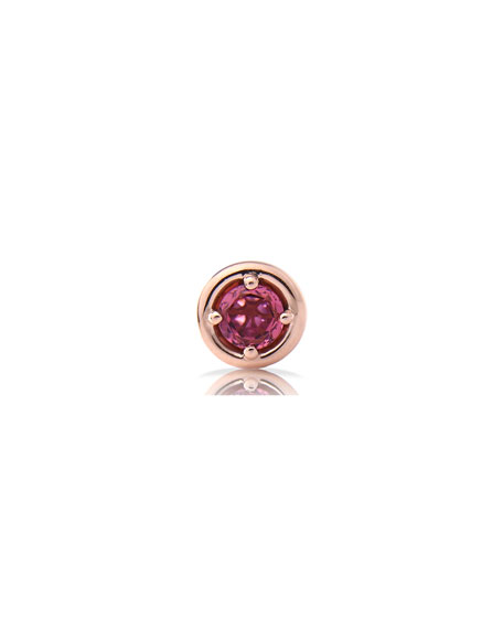 Image 1 of 4: Stevie Wren Round Pink Tourmaline Charm with Pink Diamond