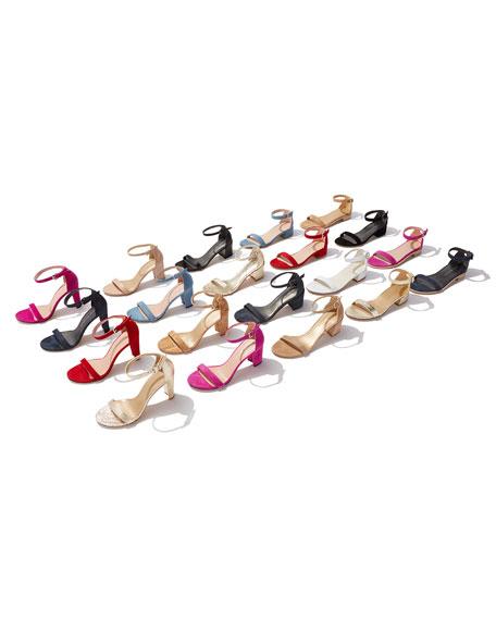 Simple Suede Chunky-Heel City Sandal