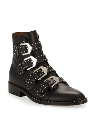 c477bce8939 Givenchy Studded Leather Ankle Boot