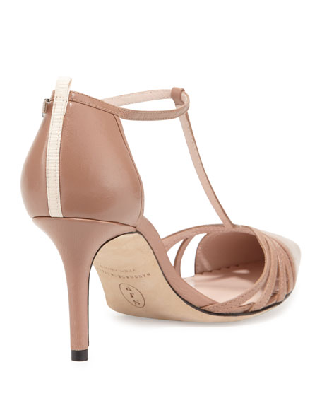 Carrie Leather T-Strap 70mm Pump