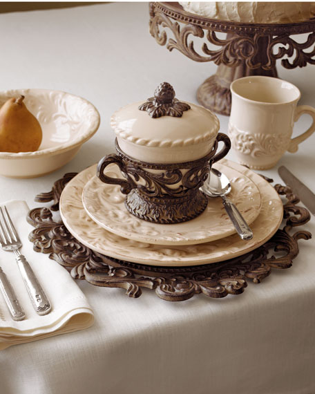 G G Collection 20-Piece Ceramic Dinnerware Service