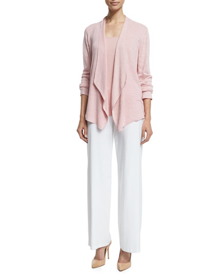 Organic Linen Angled Cardigan, Petite
