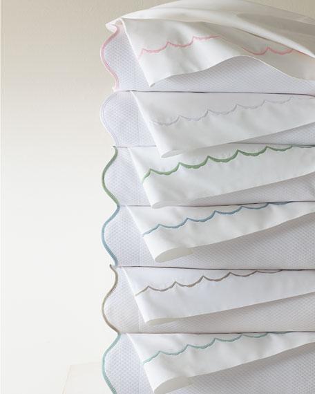 Matouk Full/Queen Scallops Embroidered Duvet Cover