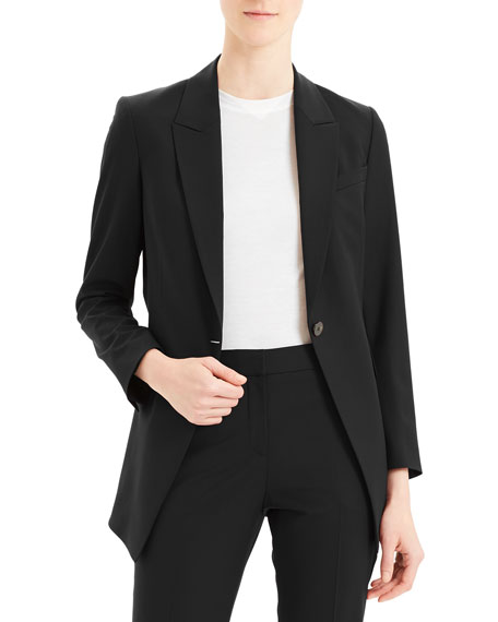 Image 1 of 2: Etiennette One-Button Good Wool Suiting Jacket