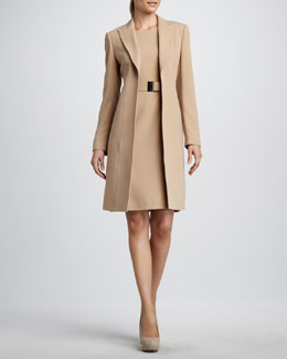 Albert Nipon Jacket & Belted Sheath Dress Set