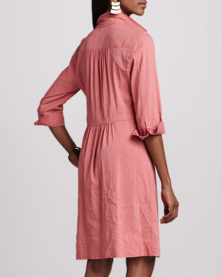 Linen Shirtdress, Petite