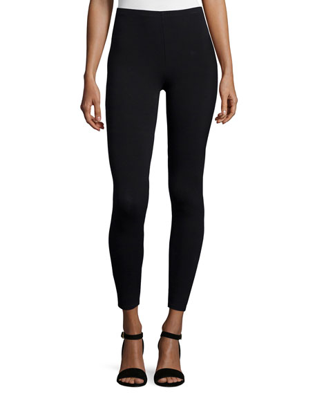 Eileen Fisher Viscose Jersey Leggings, Black