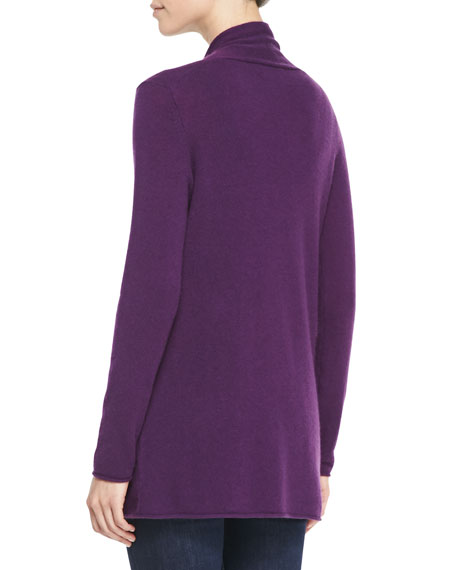 Neiman Marcus Cashmere Collection Draped Open-Front Cashmere Cardigan