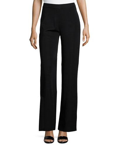 Washable Wide-Leg Pants, Black, Women's