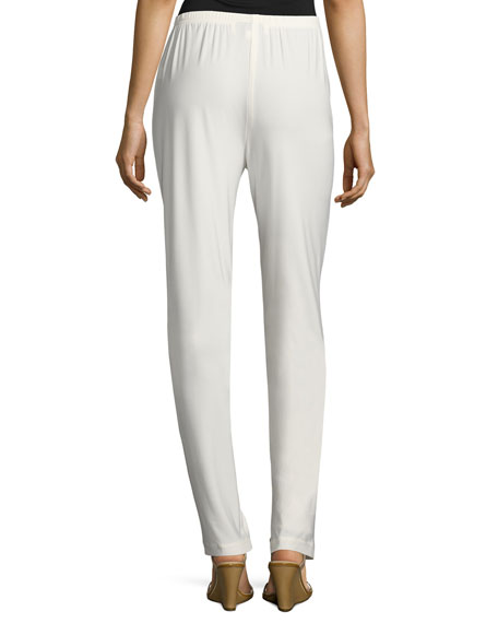 Caroline Rose Petite Stretch-Knit Slim Pants