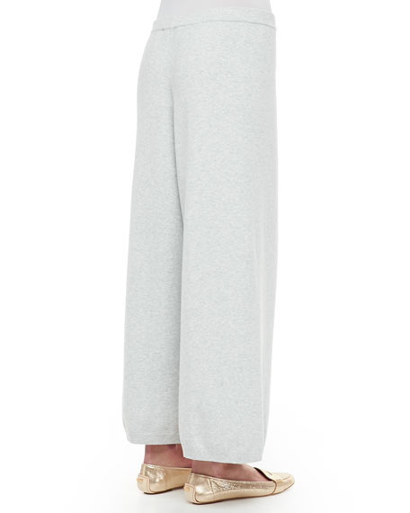 Wide-Leg Knit Pants, Plus Size