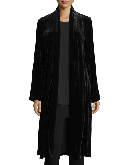 Eileen Fisher Washable Velvet Kimono Jacket Neiman Marcus