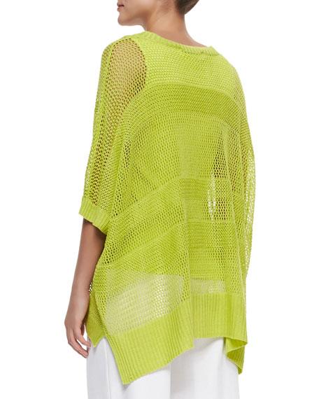 Mesh Striped Sweater