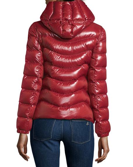 Anthia Hooded Wave Puffer Jacket