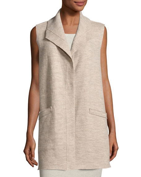 Icon Boiled Wool Long Vest