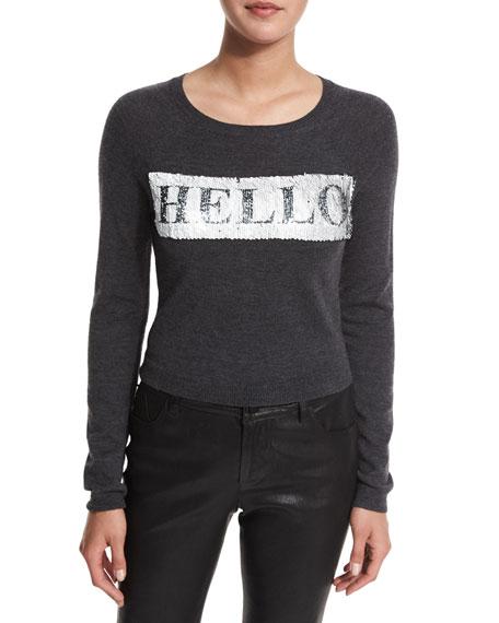 Alice + Olivia Ric Sequined Cropped Sweatshirt