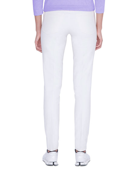 Magda Slim-Leg Ankle Pants, Moonstone Ivory
