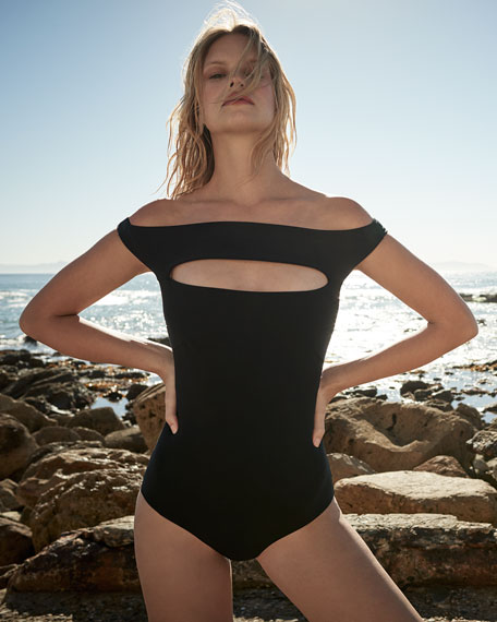 Europa Off-the-Shoulder One-Piece Swimsuit