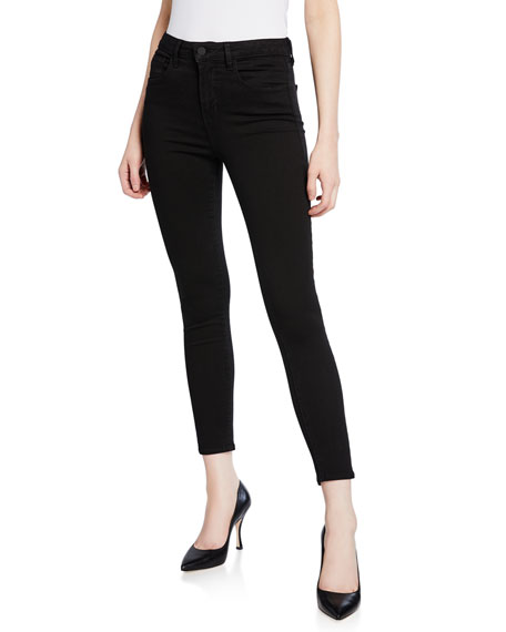 Margot High-Rise Skinny Ankle Jeans, Midnight