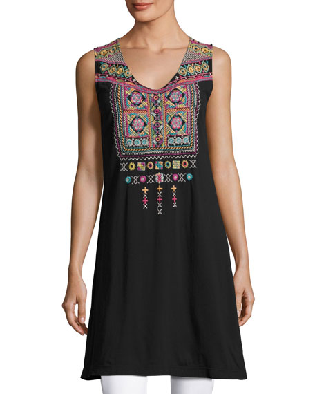 Dita Embroidered Long Tunic
