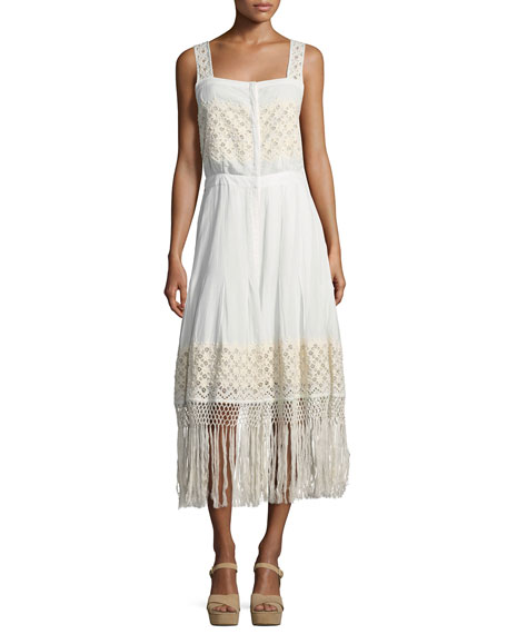 Loveshackfancy Eve Eyelet Cotton Maxi Dress, White