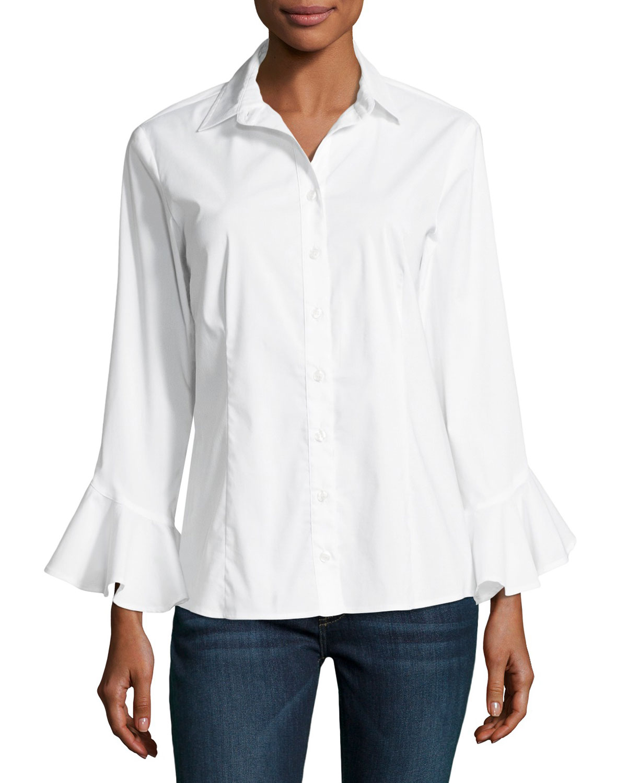 75c4cde5535 Finley Plus Size Carmella Silky Poplin Shirt