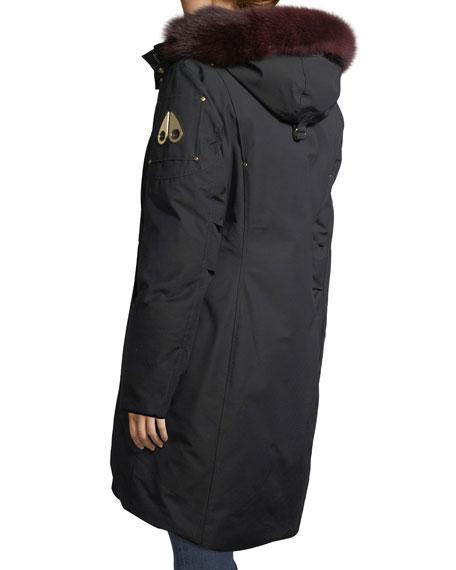 Moose Knuckles Hooded Parka Jacket w/ Fur Trim