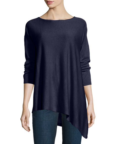 Eileen Fisher CLSSC TENCEL KNIT BAL NK TOP